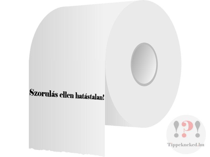 Szorulás ellen hatástalan a WC papír