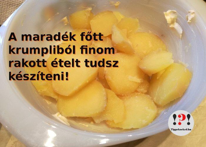 Maradék főtt krumpli