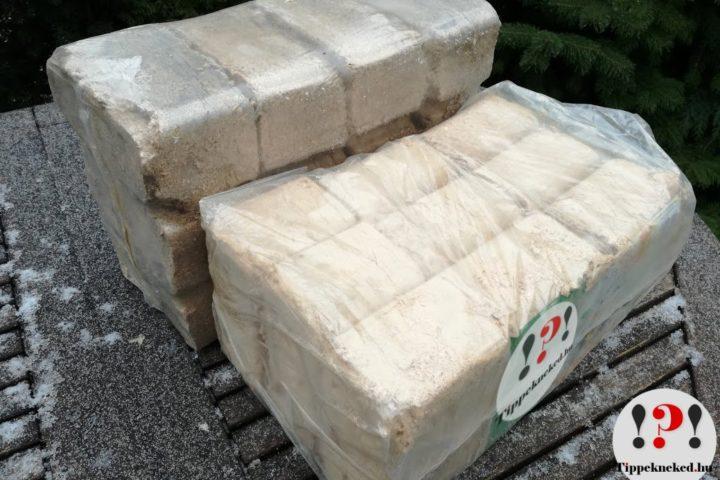Fabrikett helyes használata: Szabályos alakzatba csomagolt fabrikett: könnyű tárolóhelyet találni neki