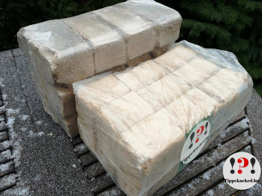Fabrikett helyes használata: Szabályos alakzatba csomagolt fabrikett - könnyű tárolóhelyet találni neki