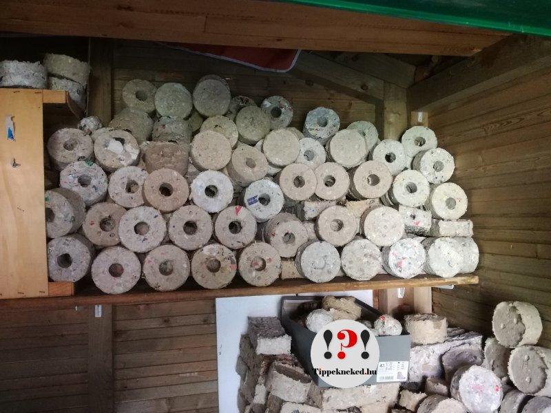 Papírbrikett készítése: tárolás száraz helyen!szárítás