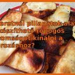 Sajt chips házilag - finom vendégváró pillanatok alatt