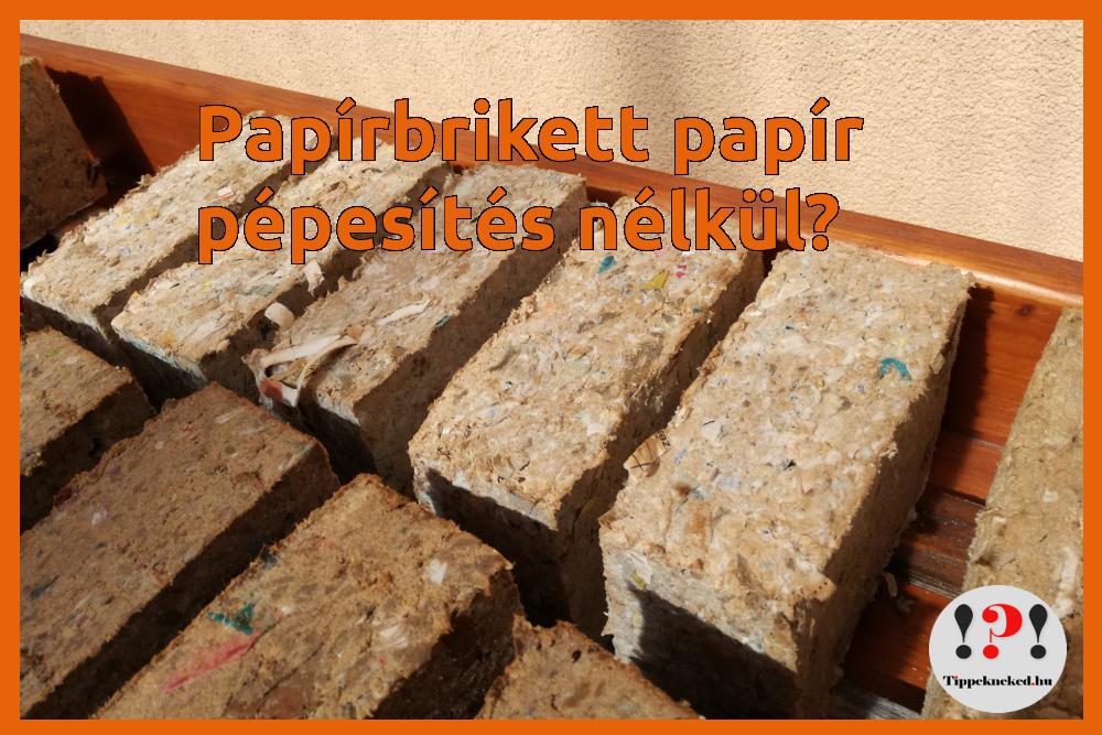 A papír pépesítése papírbrikett gyártáshoz: kell, vagy nem kell?