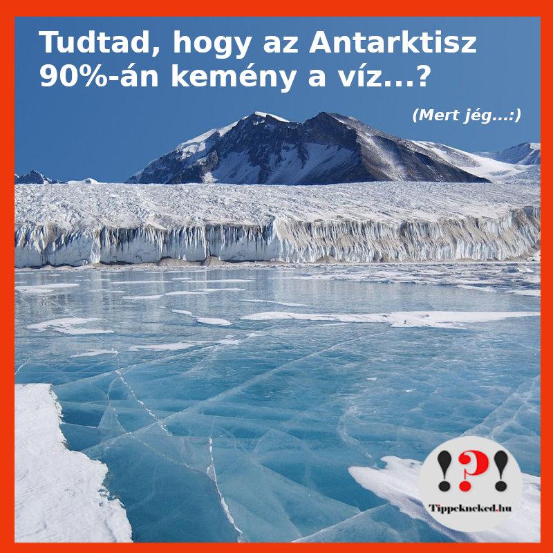 Milyen a víz az Antarktiszon?
