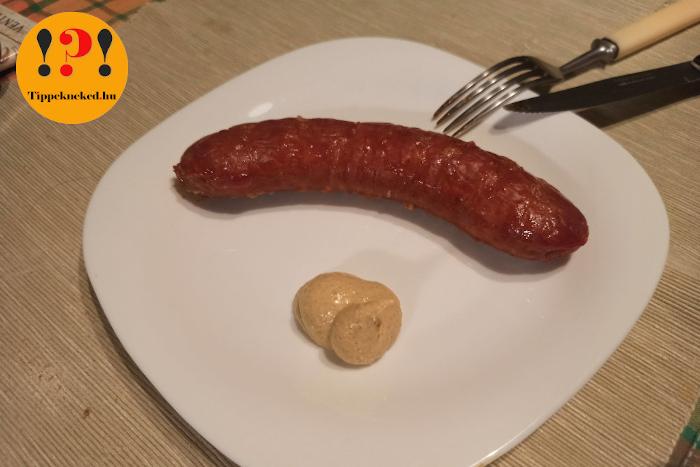 Kolbász mustárral